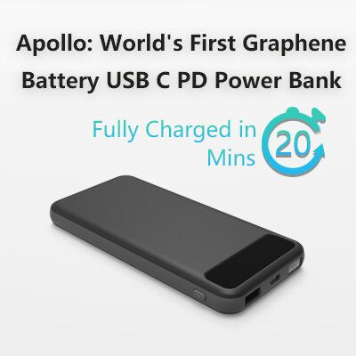 new crowdfunding campaign for graphene based battery power bank science and technology. Black Bedroom Furniture Sets. Home Design Ideas