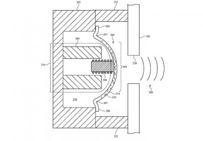Apple graphene composite acoustic diaphragm patent image (US20170006382)