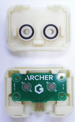 Graphene-based biosensor devices 2D printed on a circuit board by Archer image