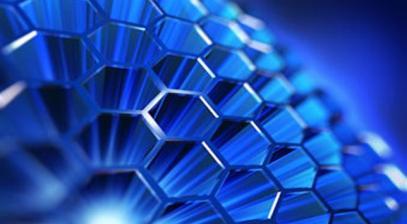 Blue graphene sphere image
