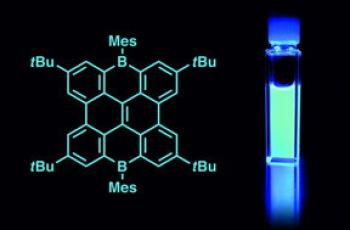 Boron-laced graphene emit intensive blue light image