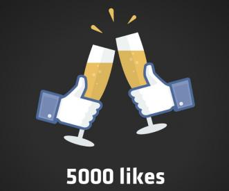5000 Facebook likes image