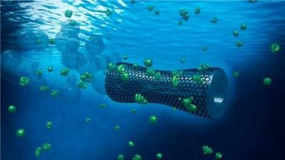 GO microbots for cleaning water image