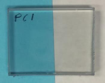 Four layers of GO coating on polycarbonate