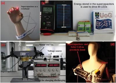 Graphene-enhaned E-skin generates and stores electricity for prosthetic devices image