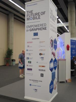 The Graphene Pavilion banner at MWC 2016