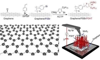 Graphene assists in creating ''polymer carpets'' image