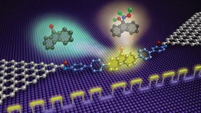 Graphene device reveals step-by-step dynamics of single-molecule reaction image