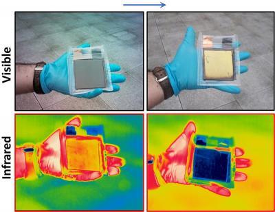 Multispectral graphene-based electro-optical surfaces image