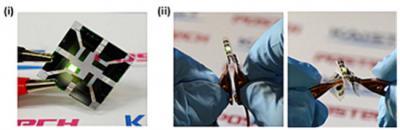 KAIST graphene-based OLED device photo