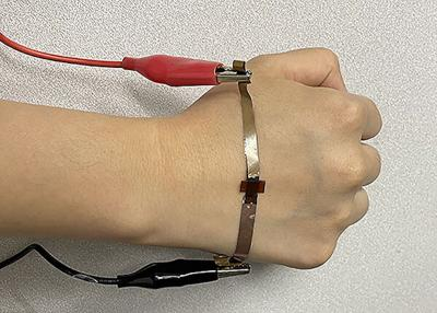 Graphene made with lasers for wearable health devices image
