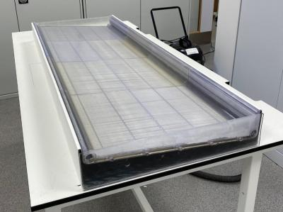 The WMG/Senergy solar cell as it went in for testing image
