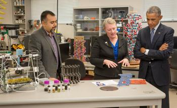 Obama visits Boise graphene State 3D printing