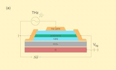 Wiring diagram of a graphene-based terahertz detector image