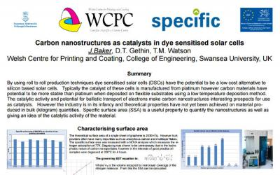 Graphene for solar (DSSC), Haydale and Swansea article photo