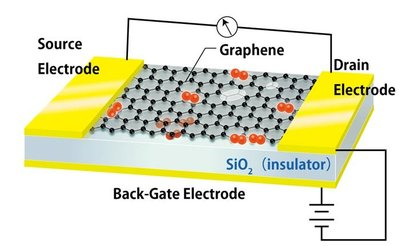 Graphene FET oxygen adsorption photo