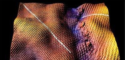 A graphene grain boundary image