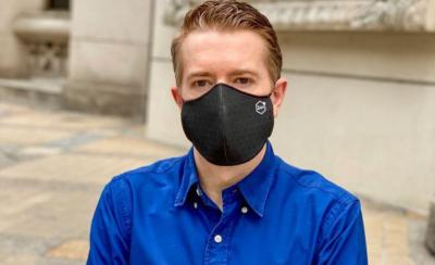 Patrick Frantz - planarTECH's CEO with the graphene face mask