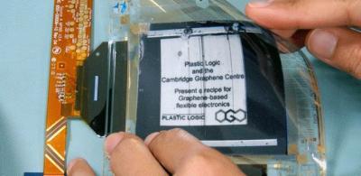 Plastic Logic and CGC graphene-based EPD prototype photo