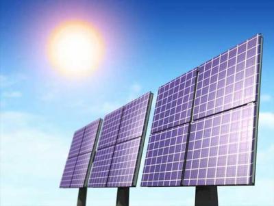 Solar panel array photo