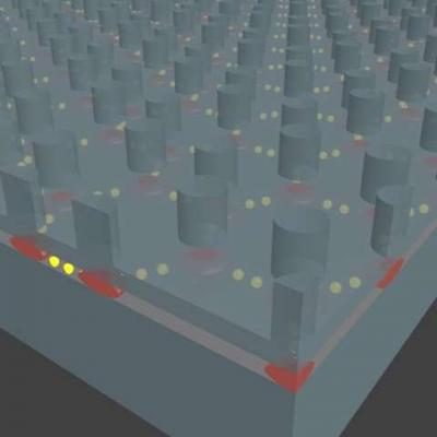 Artificial graphene semiconductor image